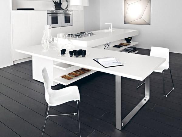 Офис мебели от ПДЧ бял гланц